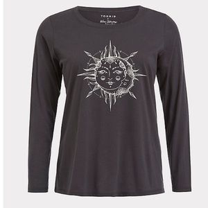 Torrid Sun & Moon Celestial Long Sleeve Top size 3